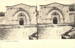 Bethlehem, Bethléem; Tombeau de la Vierge / virgin's tomb, stereo postcard
