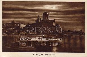 Esztergom, Bazilika, gőzhajó, este