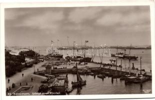 Copenhagen, Kobenhavn; Udsigt over Rheden, ships