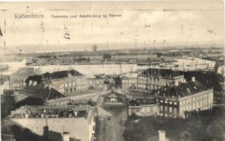 Copenhagen, Kobenhavn; Amelienborg, Havnen / castle, port