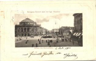 Copenhagen, Kobenhavn; Kongens Nytrov, kgl. Theater / square, theatre