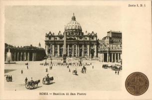 Rome, Roma; Basilica di San Pietro, Commemorative postcard on the backside