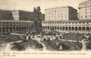 Rome, Roma; Cloister, garden, Convent of Frati Certosini, National Museum