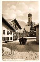 Oberammergau, winter, church