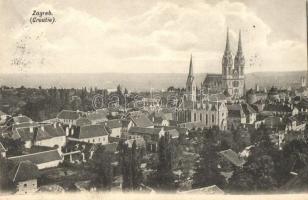 Zagreb, cathedrale, Zágráb, templom