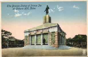 Kobe, Ohkura Hill, Bronze-Statue of Prince Ito