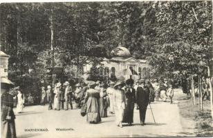 Marianske Lazne, Marienbad; Waldquelle / spring, shop of J.F. Langhans