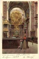 Vienna, Wien; Karlskirche / church,Ottmar Zieher No. 2602. litho s: Paul Hey