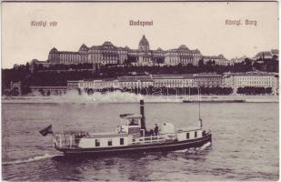 Budapest I. Királyi vár, Szilágyi térig közlekedő gőzhajó
