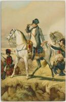 Napoleon at Wagram, litho s: Horace Vernet
