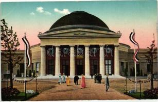 1913 Leipzig, Intern. Baufachausstellung mit Sonderausstellungen, Betonhalle; Offizielle Postkarte 104. / International Building trade exhibition with special exhibitions, Beton hall