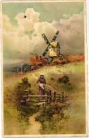 Landscape art postcard, E.D. 870.