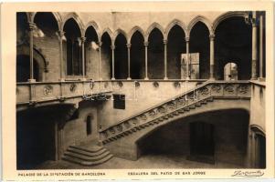 Barcelona, Palacio de la Diputacion / Palace of the Delegation, San Jorge stairs