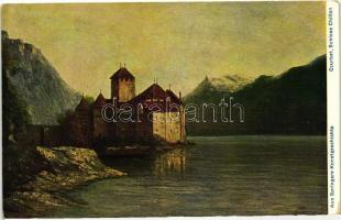 Chateau de Chillon / castle, Aus Springers Kunstgeschichte s: Courbet