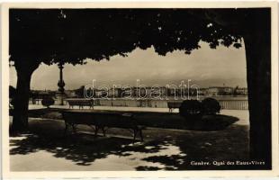 Geneva, Geneve; Quay of Eaux-Vives