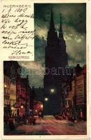 Nürnberg, Königstrasse / Street, Velten's Künstler-Postkarten E. Nister No. 101. litho s: K. Mutter