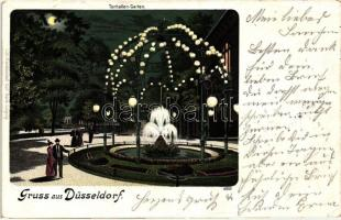Düsseldorf, Tonhallen-Garten / park, Kunstanstalt Carl Garte 4970. litho
