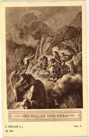 Iris, Pallas and Hera, Ilias V.; F.A. Ackermann's Kunstverlag Serie 154: Preller, Ilias 12 Karten s: F. Preller