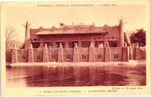 1931 Paris, Exposition Coloniale Internationale; African restaurant
