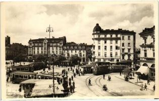 Sofia, square, trams