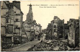 Chateau-Thierry, Ruins of the Town Hall quarter