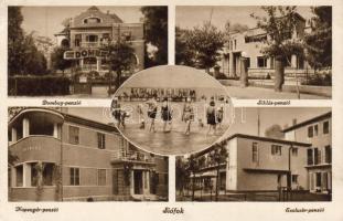 Siófok, Dombay, Siklós, Exclusiv és Napsugár penzió, fürdőzők
