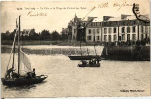 Loctudy, Cale, Plage, Hotel des Bains / beach, hotel, boats