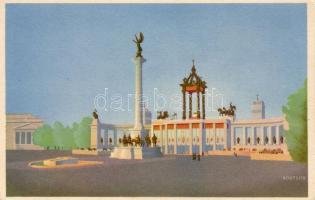 Budapest XIV. Hősök tere, XXXIV. Nemzetközi Eucharisztikus Kongresszus, Főoltár, Klösz s: Börtsök