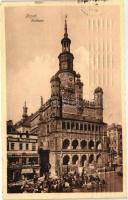 Poznan, Posen; Rathaus / town hall, shop of L. Krause