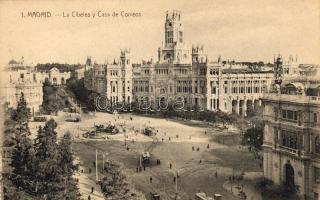 Madrid, Plaza de Cibeles, Casa de Correos / square, post office, trams
