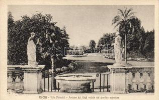 Rome, Roma; Villa Pamphili, Fontana dei Gigli / villa, fountain