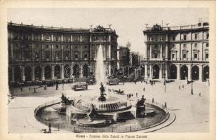 Rome, Roma; Fontana delle Naiadi, Piazza Termini / fountain, square, trams