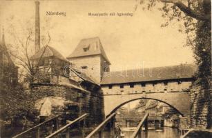 Nürnberg, Mauerpartie, Agnessteg / bridge