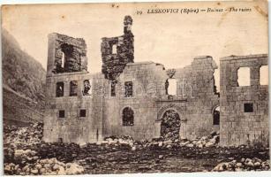 Leskovik, Leskovici; ruins