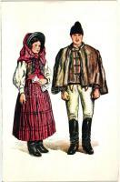 Transylvanian folklore from Sandominic, székely s: Csikós Tóth András, Székely házaspár Csíkszentdomokosról s: Csikós Tóth András