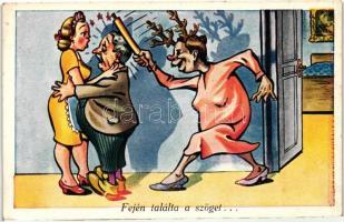 Husband-wife humour, Fején találta a szöget, férj-feleség humor