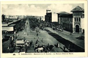 Casablanca, Boulevard du 4e Zouaves, Bank, automobiles