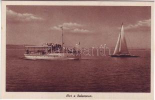 Balaton, gőzhajó, vitorlás hajó