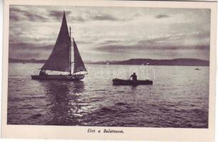 Balaton, vitorlás hajó, csónak