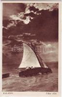 Balaton, vitorlás hajó, vihar előtt