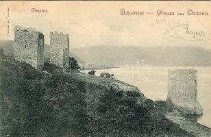 1899 Orsova, Tricule towers, fortress, 1899 Orsova, Tricule erőd