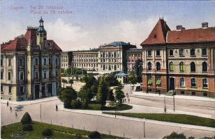 Zagreb, Trg. 29. listopada / square, Zagreb, Október 29. tér