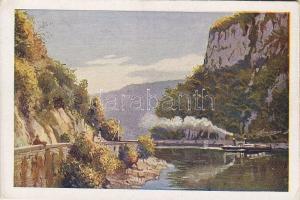 Kazan gorge, steamship, Kazán-szoros, gőzhajó, Klösz