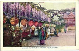 Tokyio, Glycines au temple de Kameido / wisteria at the temple