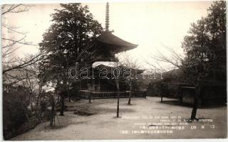 Itsukushima, Aki provincia, szentély Pagodával, Itsukushima, Aki province, Shrine with Pagoda
