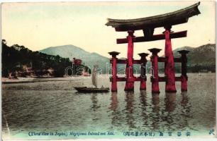 Itsukushima (Miyajima), Aki province, Torii gate, Itsukushima (Miyajima), Aki provincia, Torii kapu