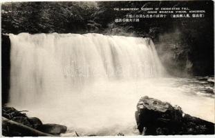 Oriase Mountain Stream, Chosi-Otaki waterfall, Aomori Prefecture, Oriase hegyi folyó, Chosi-Otaki vízesés, Aomori Prefektúra