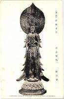 Nara prefecture, Horyu-ji Temple, Yumedono Kannon, Buddhist statue, Nara perfektúra, Horyu-ji templom, Yumedono Kannon, buddhista szobor