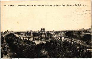 Paris, view of the Seine, Notre Dame and the city, Párizs, kilátás a Szajnára, a Notre Dame-ra és a városra