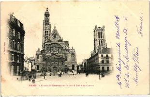 Paris, Eglise St-Etienne-du-Mont, Tour de Clovis / church, tower